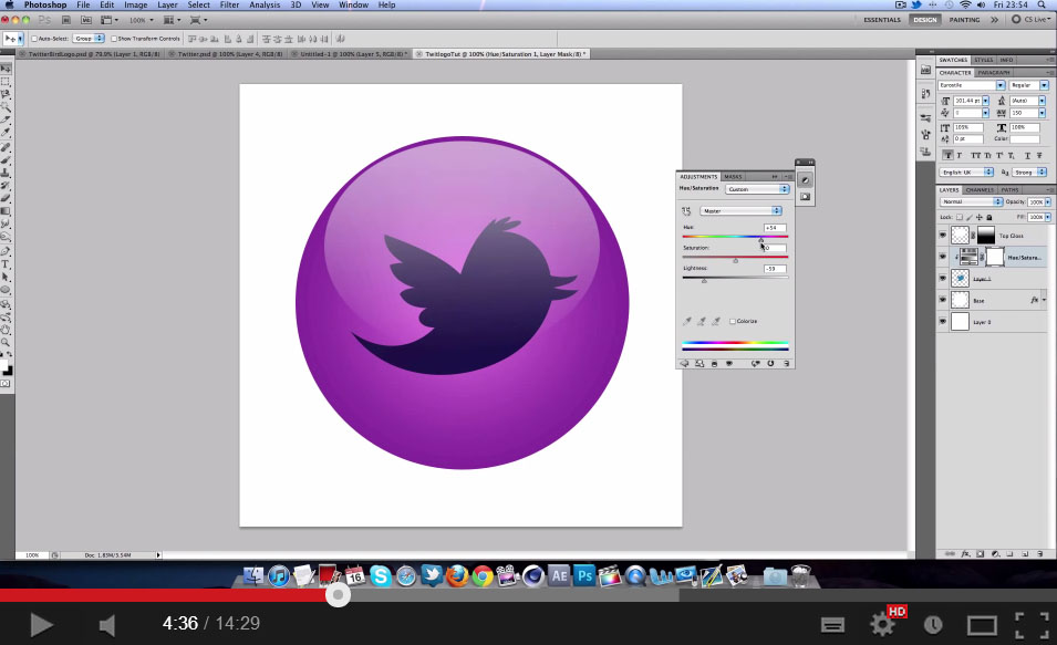 Glossy Social Media Icons Tutorial