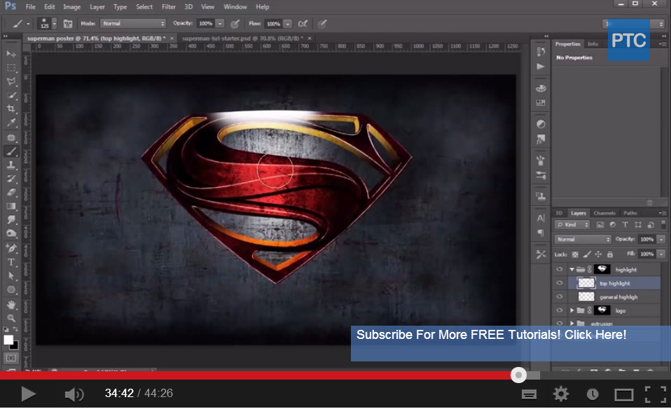 Man of Steel Logo Movie Poster Photoshop Tutorial Design Bump