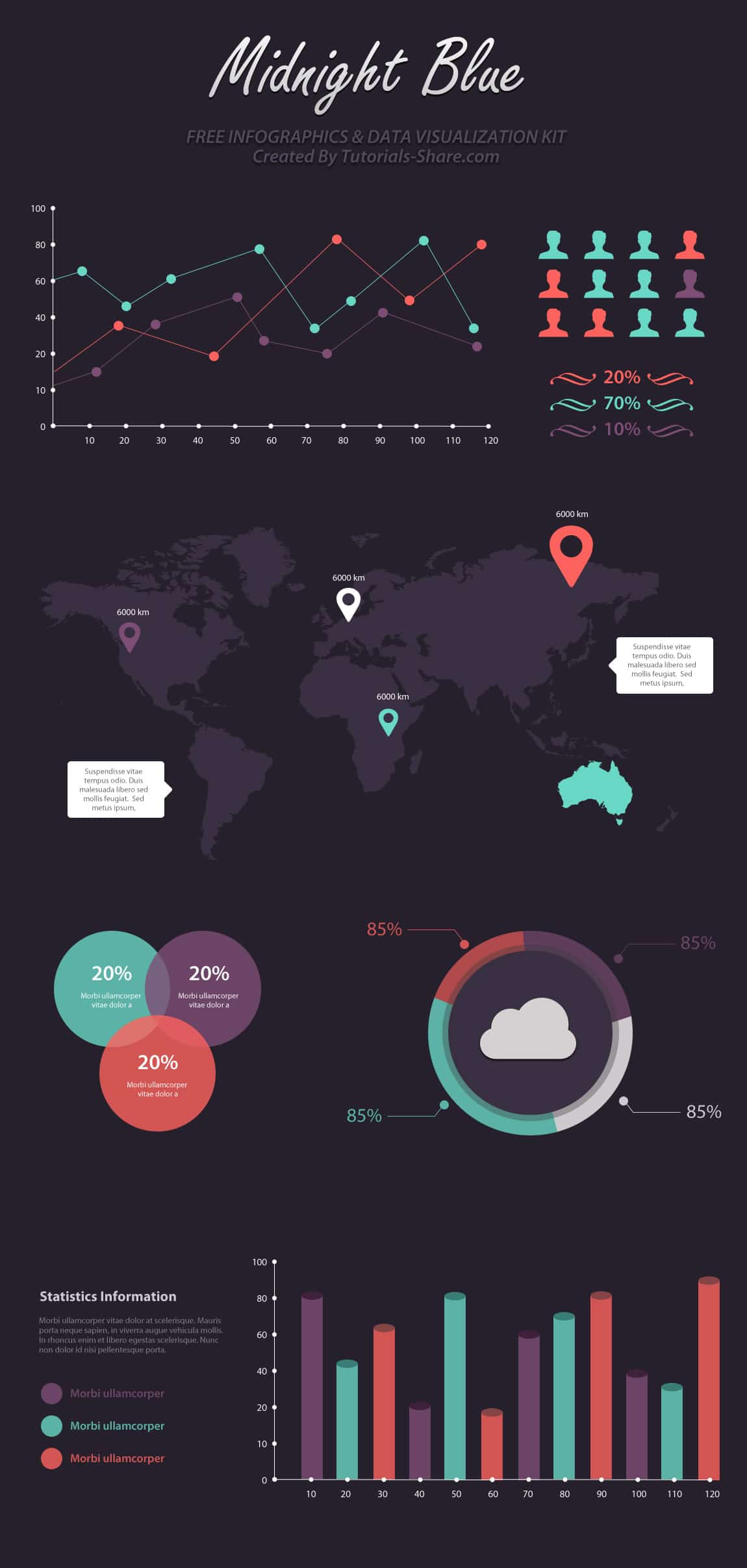 infographic template psd free download