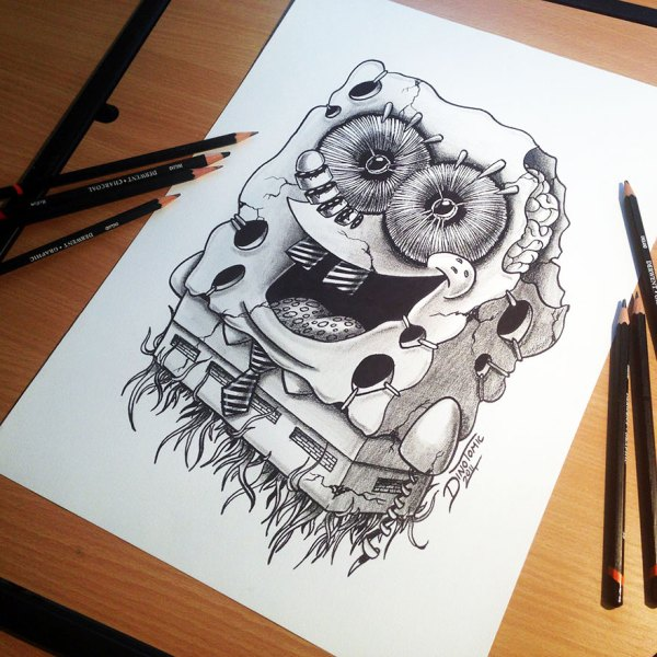 Expressive Pencil Drawings Dino Tomic -designbump