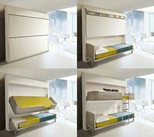 chairs that fold out into beds small swivel chair 30 clever space-saving design ideas for homes -designbump