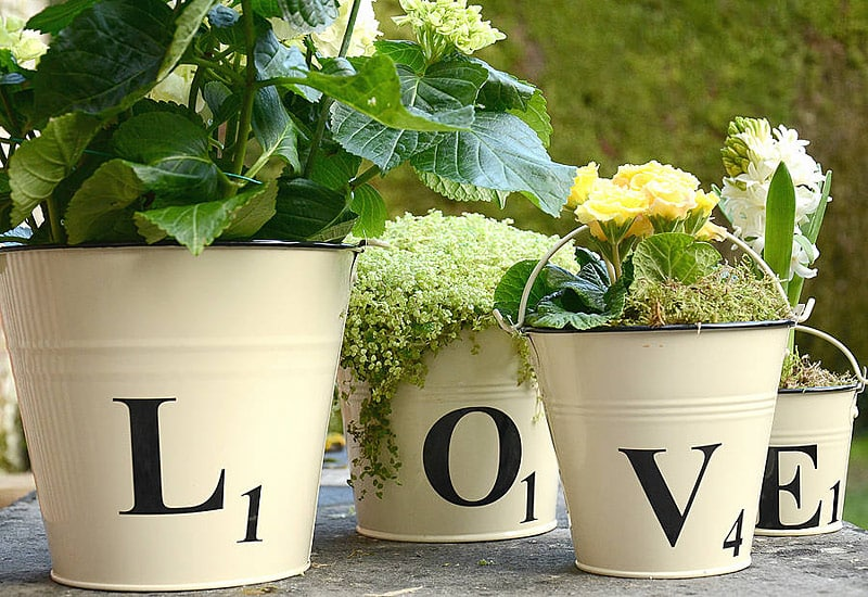 scrabble plant pots - 20 GENIUS DIY TYPOGRAPHY FOR ART AND DESIGN PROJECTS