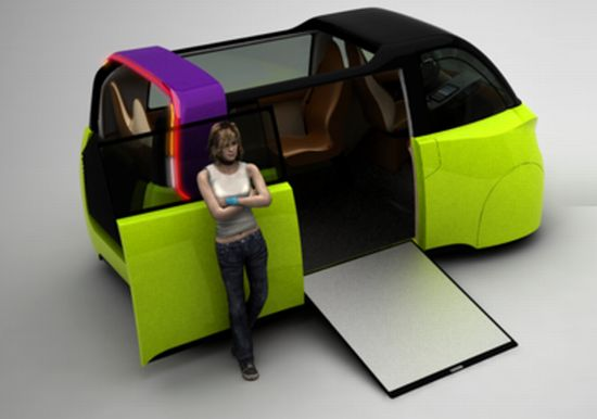 Future Urban Mobility Semi Public Electric Vehicle To