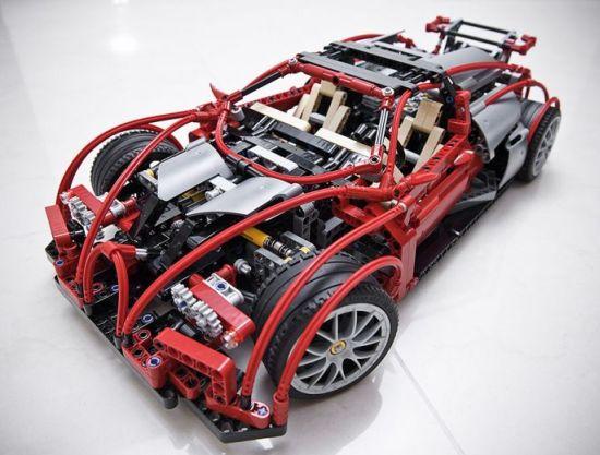 bugatti veyron gets a lego mockup designbuzz. Black Bedroom Furniture Sets. Home Design Ideas