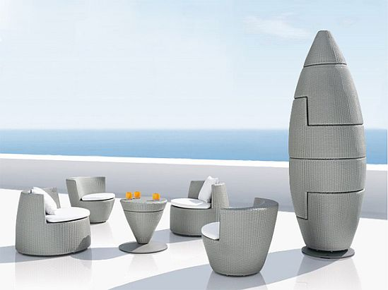 obelisk furniture. Renowned Manufacturers Of Outdoor Furniture Dedon Have Launched Their Latest Collections. Designed By Frank Lighart, Obelisk Consists Four Lounge Chairs