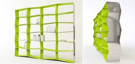 Eco Friendly Parallax And Surfacer Bookshelves From Zaum