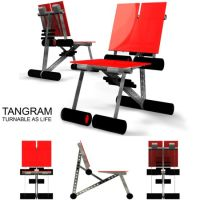 Tangram concept chair comes together like a creative game ...