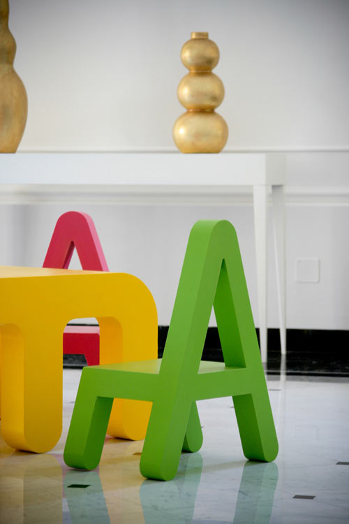 Decorating your home with alphabets designbuzz for Furniture 5 letters