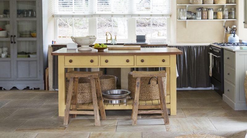 Repurposed furniture style kitchen island