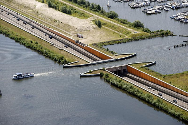 Veluwemeer Aqueduct, Netherland