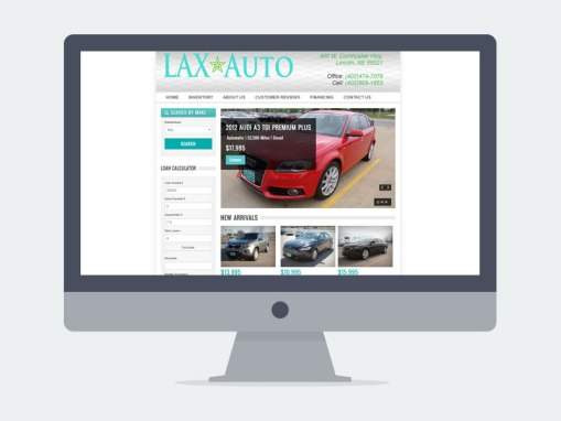 Lincoln NE Web Design and Development - laxauto