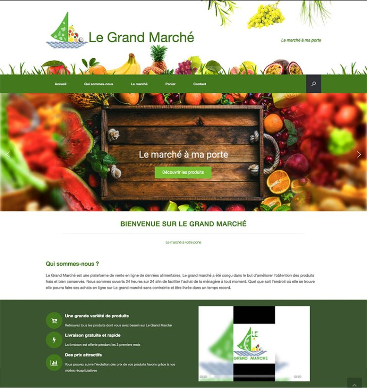 site grand marché- Design by Chelty, Agence web à Abidjan