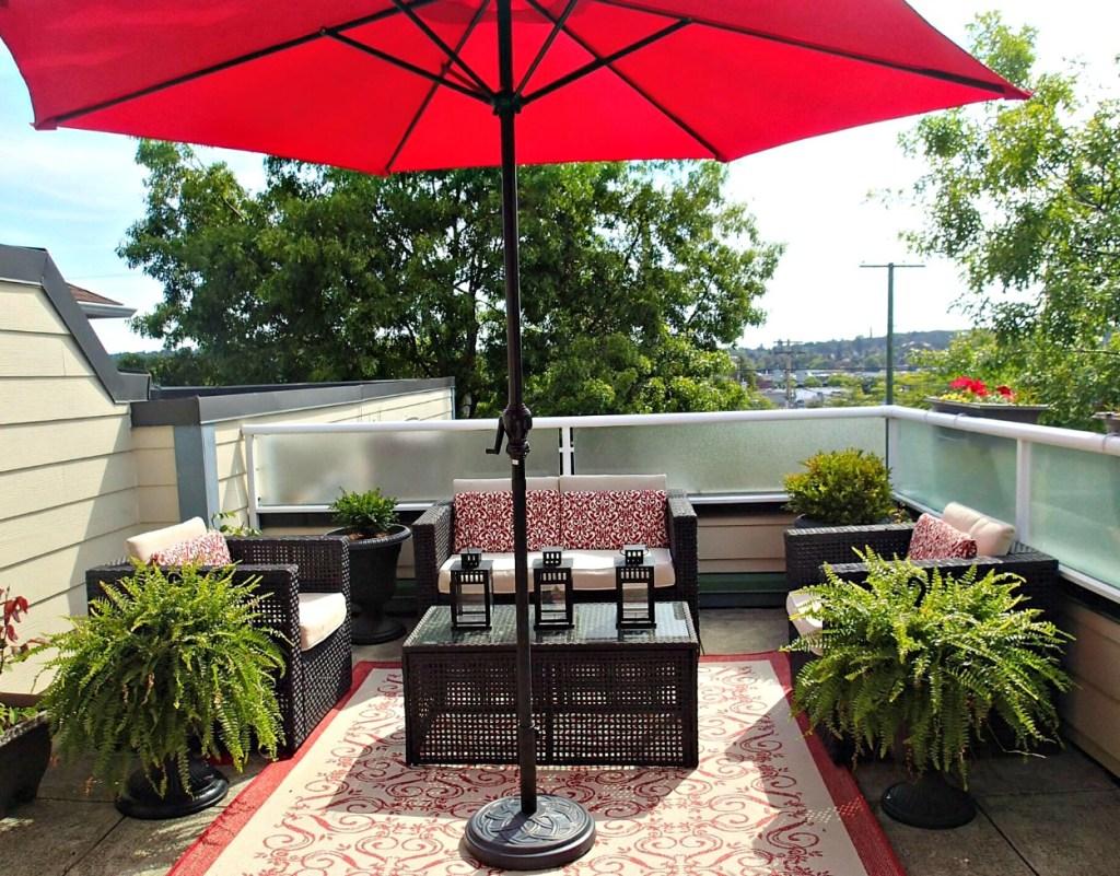 $100 Room Challenge|Deck Refresh|#100roomchallenge|Back Deck|Condo Deck|Reg themed deck