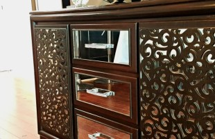 Create a DIY Mirrored Buffet from a Dresser