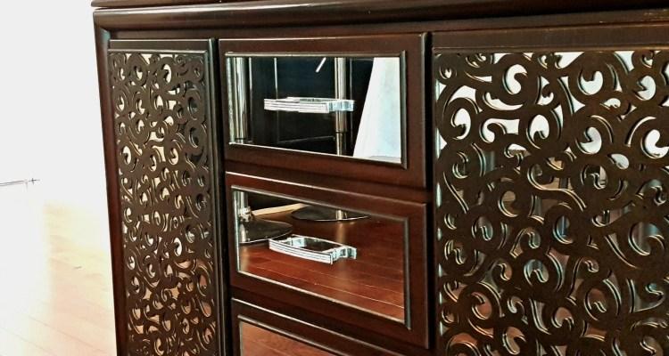 Create a DIY Mirrored Buffet from a Dresser
