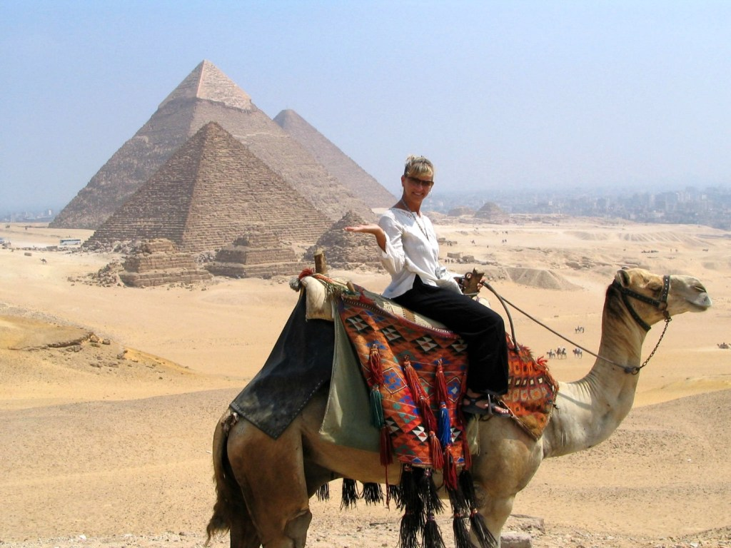 Great pyramids, Egypt, Camel ride in Cairo