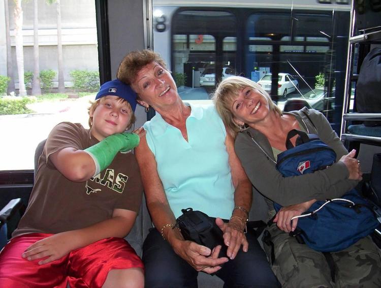 Deneen's family in Disneyland. 2006