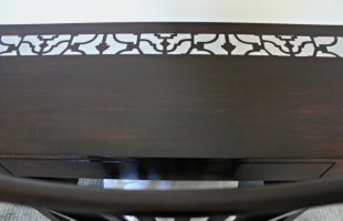 Stain and stencil furniture
