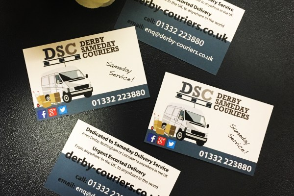 Business Cards – Derby SameDay Couriers
