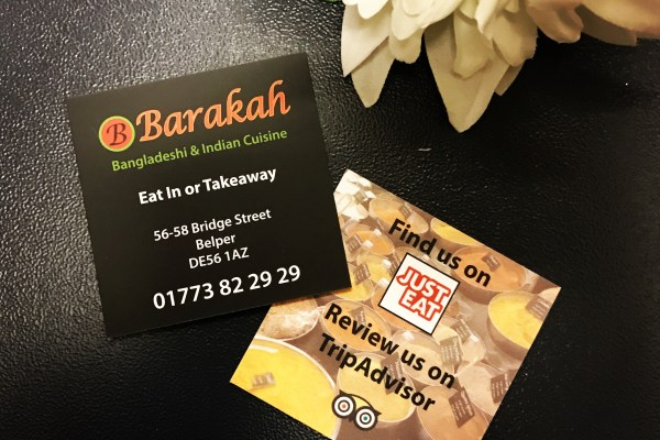 Feedback Cards – Barakah Restaurant