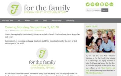 for the family - forthefamily.org