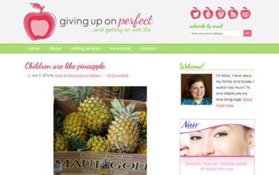 Mary Carver - givinguponperfect.com