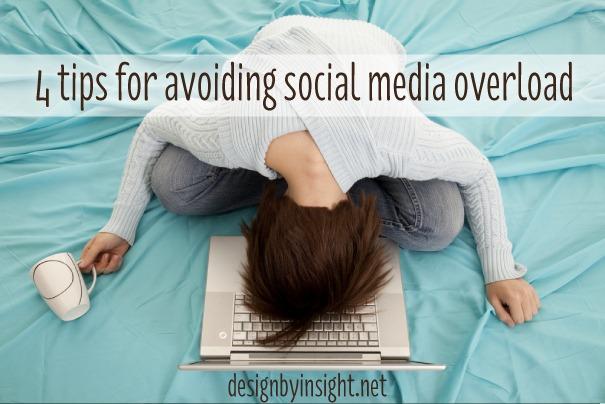 4 tips for avoiding #socialmedia overload