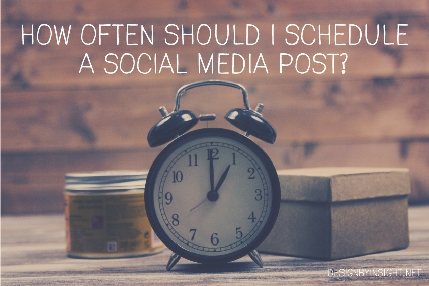 how often should I schedule a social media post?