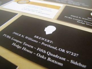 Lompoc Brewing business card design