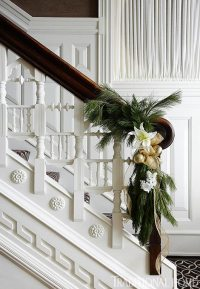 christmas stairwell decor | Design by Occasion