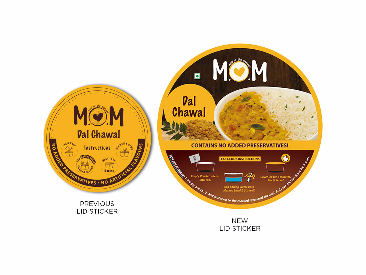 M.O.M Packaging Lid Stickers