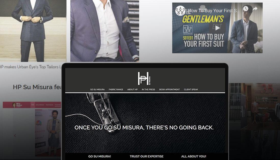 HP Su Misura Website