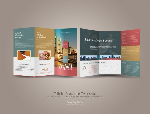 40 Tri Fold Brochure Design For Inspiration Fine Art