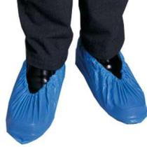 Blue plastic overshoes - protect your new or cleaned carpets