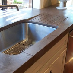 Outdoor Kitchen Countertops Rustic Table And Chairs 9 Examples Of Concrete Done Right - Designcast ...