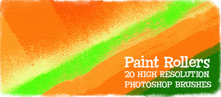 Paint Rollers 20 High Resolution Photoshop Brushes