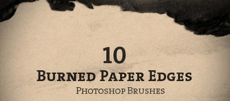 10 Burned Paper Edge Photoshop Brushes  Design Chair