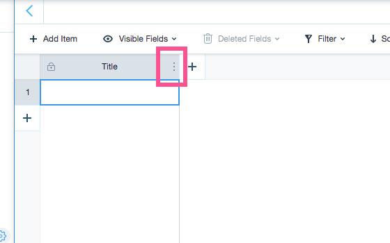 Wix Codeでデータベースの項目を設定