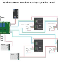 complete wiring diagram cnc 6 axis interface breakout board with mach3 cnc board wiring diagram [ 1371 x 996 Pixel ]