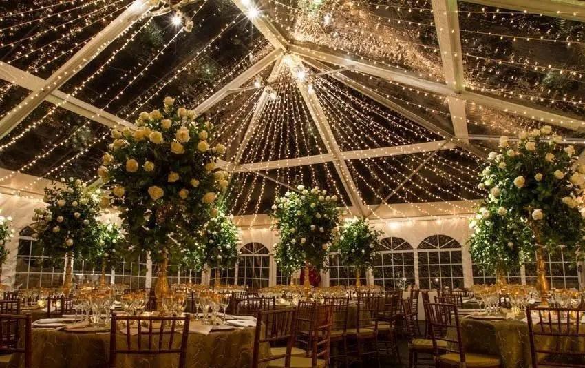 Fall Wedding Under Tent