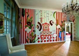 Papel pared tejido Thomas Zeitlberger nepenthes mural