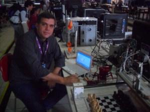 Francisco Roberto, criador do robô que joga xadrez
