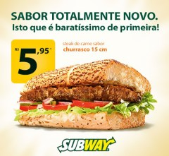 Subway Steak Currasco preco