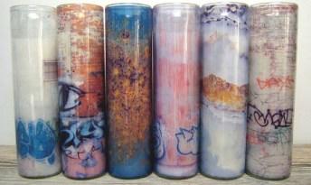 Graffiti Candles