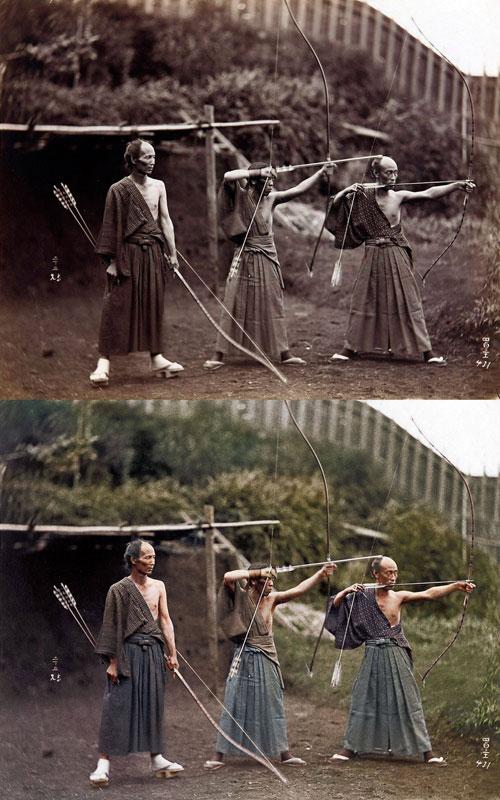 kyudoka-japanese-archers-c1860-photo-chopshop-original