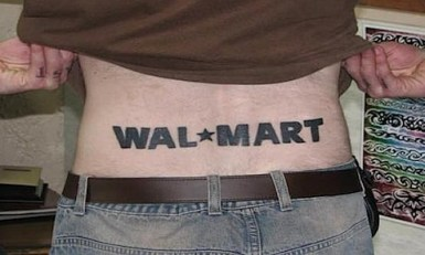 tatoo Wal mart