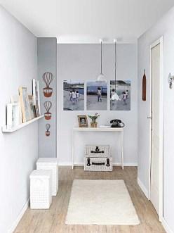 Hall em decoração com branco
