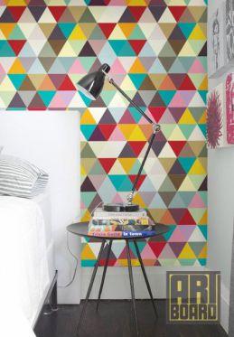Papel de parede colorido e geométrico