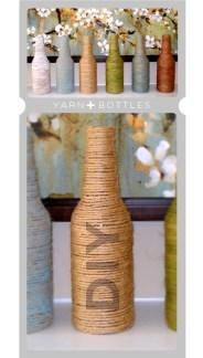 Garrafas de cerveja decoradas artesanalmente com fibra natural