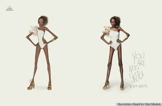Anúncios Anorexia
